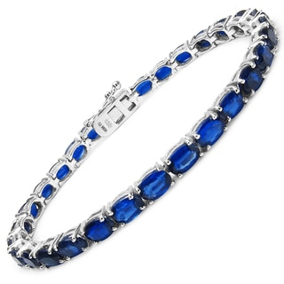 Malaika Sterling Silver 17 2/5ct Genuine Kyanite Bracelet