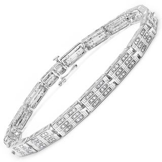 Malaika 14k White Goldplated Sterling Silver 1 1/6ct Diamond Bracelet (I-J, I2-I3)