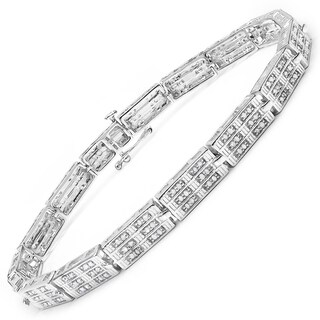 Malaika 14k White Goldplated Sterling Silver 1 1/6ct Diamond Bracelet