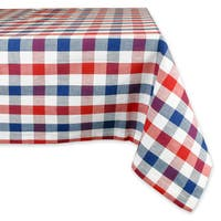 Red and Blue Check Tablecloth