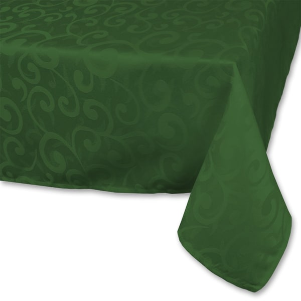 Dark Green Poly Damask Tablecloth Free Shipping On