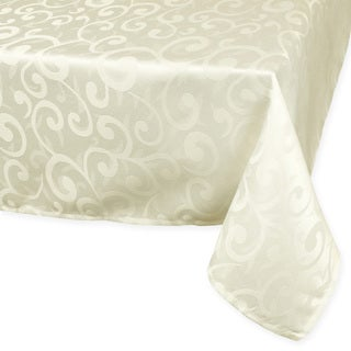 Cream Poly Damask Tablecloth