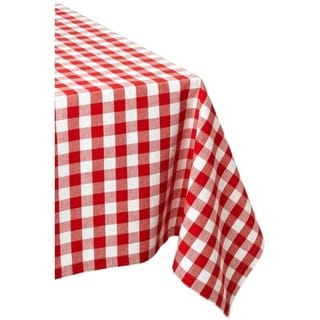 Checkers Red and White Tablecloth
