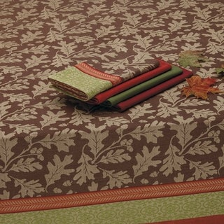 Great Oak Jacquard Tablecloth