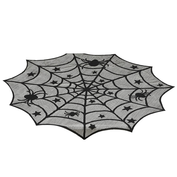 Spider Web 40-inch Round Lace Topper