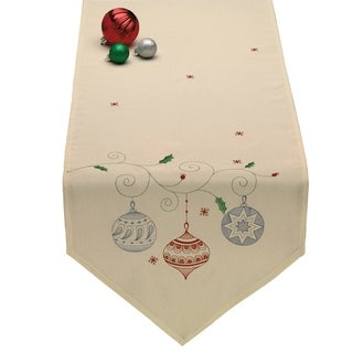 Ornaments Embroidered Table Runner
