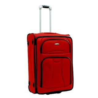 WestJet Navigator Orange 26-inch Expandable Lightweight Upright Suitcase
