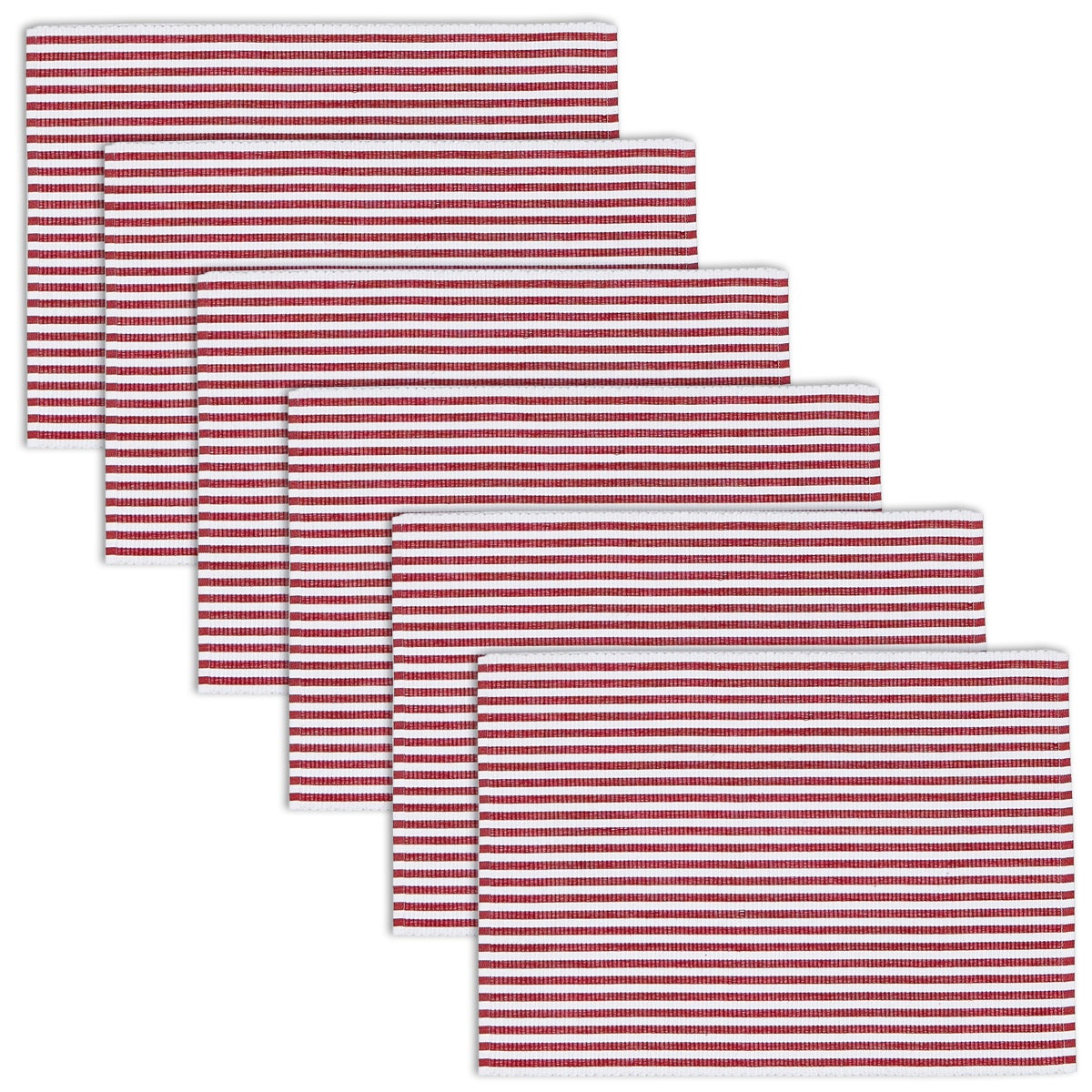 Design Imports Peppermint Stripe Placemat (Set of 6) (Pep...