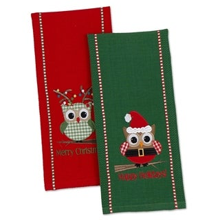 Happy Owlidays Dishtowel (Set of 2)