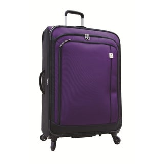 Samboro Feather Lite Purple 28-inch Lightweight Expandable Spinner Suitcase