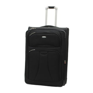 WestJet Navigator Black 29-inch Expandable Lightweight Upright Suitcase