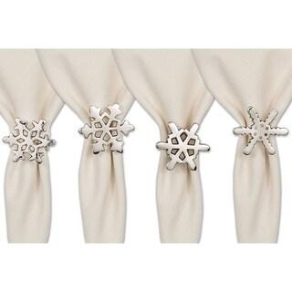 Silver Snowflake Napkin Rings (Set of 4)