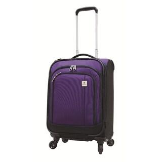 Samboro Feather Lite Purple 19-inch Lightweight Carry On Spinner Suitcase