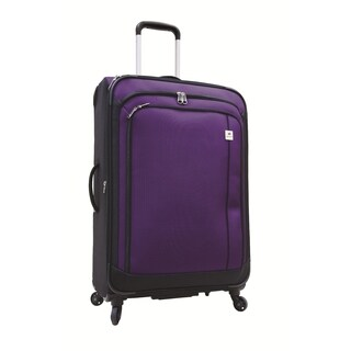 Samboro Feather Lite Purple 24-inch Lightweight Expandable Spinner Suitcase