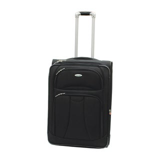 WestJet Navigator Black 26-inch Lightweight Upright Suitcase