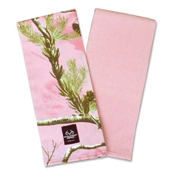 Pink Real Tree Dishtowel (Set of 2)