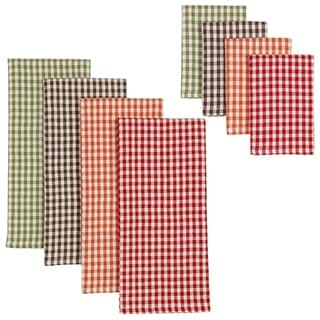 Harvest Checks Heavyweight Dishtowel and Dishcloth (Set of 8)