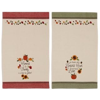 Thankful Harvest Printed Dishtowel (Set of 2)