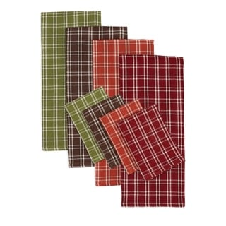 Autumn Heavyweight Dishtowel and Dishcloth (Set of 8)