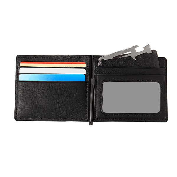 Men/'s Multifunction Leather Bifold Wallet ID Credit Card Holder Purse Money Clip