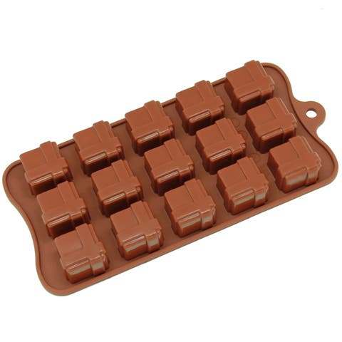 Freshware 15-cavity Silicone Gift Box Chocolate, Candy and Gummy Mold