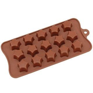 Freshware 15-cavity Silicone Super Star Chocolate, Candy and Gummy Mold