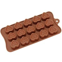 Freshware 15-cavity Silicone Valentine Double Heart Chocolate, Candy and Gummy Mold