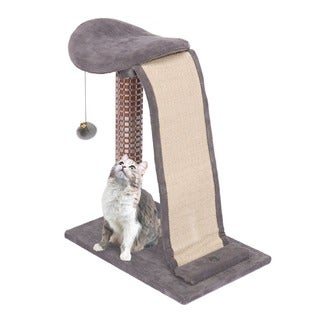 Penn Plax Cat Lounging Tower with Sisal Slide