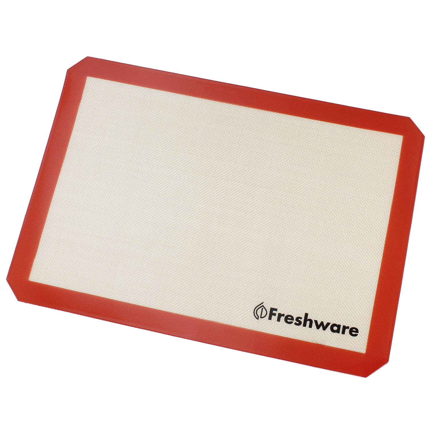 Freshware Silicone Half-size Non-Stick Baking Mat (Red, B...