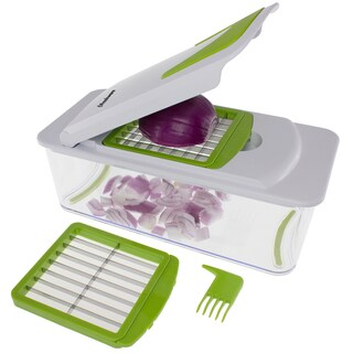 Freshware 7-in-1 Vegetable, Fruit and Cheese Chopper with Mandoline Slicer and Storage Lid
