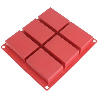 Freshware 6-cavity Rectangle Premium Silicone Soap Bar and Resin Mold
