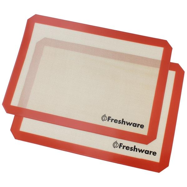 Freshware 2-pack Half-size Silicone Non-Stick Baking Mat