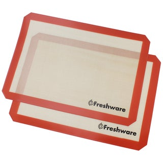 Freshware 2-pack Half-size Silicone Non-Stick Baking Mat