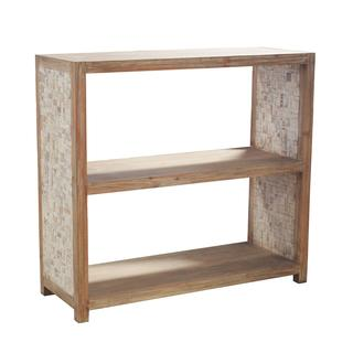 Creede Rustic White Wash Horizontal Bookcase