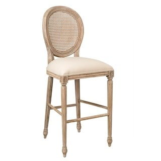 Lowell Antique White Barstool