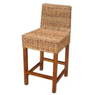 Burlington Causal Tan Wooden Barstool