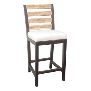 Laval Causal Brown Wooden Counterstool