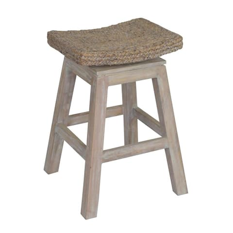 East At Main's Prairie Rustic Off-white Brown Counter Stool