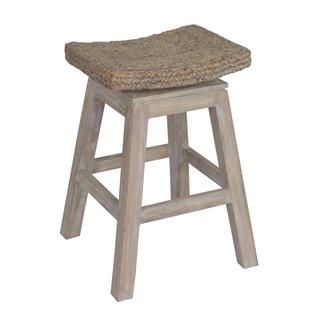 Prairie Rustic Off-white Brown Barstool