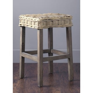 Spangle Casual Brown Wooden Barstool