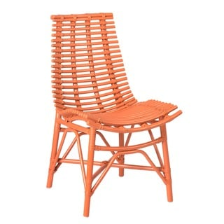 Carson Modern Orange Washed Chair