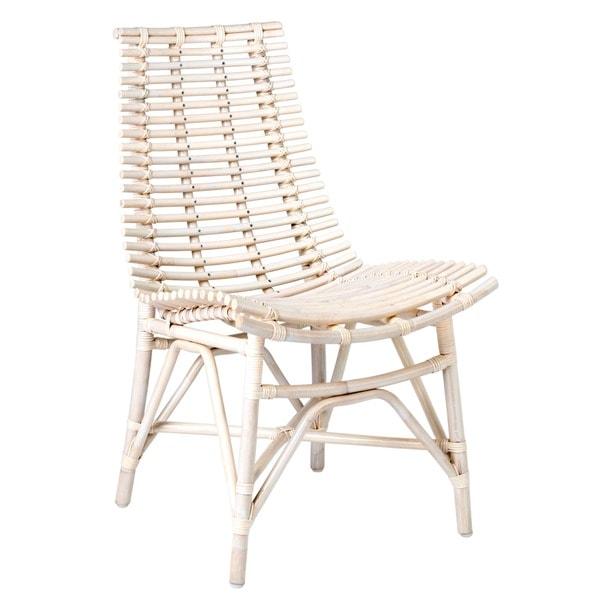Carson Modern Off White Rattan Chair