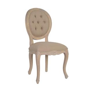 Covina Antique Tan Wooden Chair