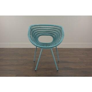 Riddle Modern Blue Fiber Chair