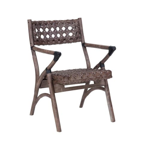 East At Main's Hines Rustic Smoky Brownish Grey Distressed Chair