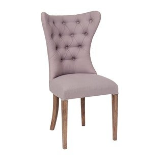 Tieton Transitional Off-white Upholstered Accent Dining Chair