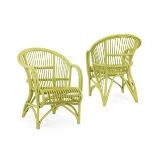 Raymond Rustic Green Textured Chair
