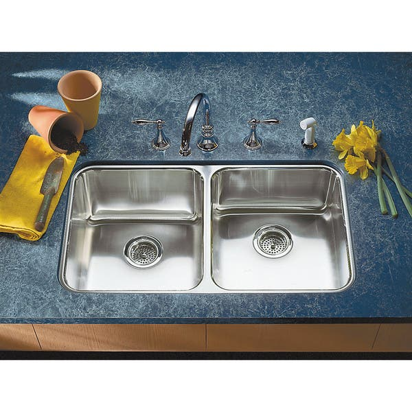 Shop Kohler Undertone Undercounter Stainless Steel 31.5x18 x ...