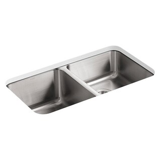 Kohler Undertone Undercounter Stainless Steel 31.5x18 x 9.625 0-hole Double Bowl Kitchen Sink