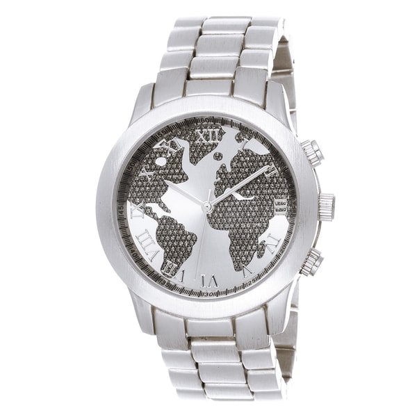 Fortune NYC Boyfriend Silver Case Globe Map Dial / Silver Strap World on equator map, us and europe map, australia map, google map, continent map, country map, canada map, middle east map, earth map, philippines map, united states map, america map, london map, hemisphere map, tectonic plates map, global map, austria map, syria map, robinson map, usa map,